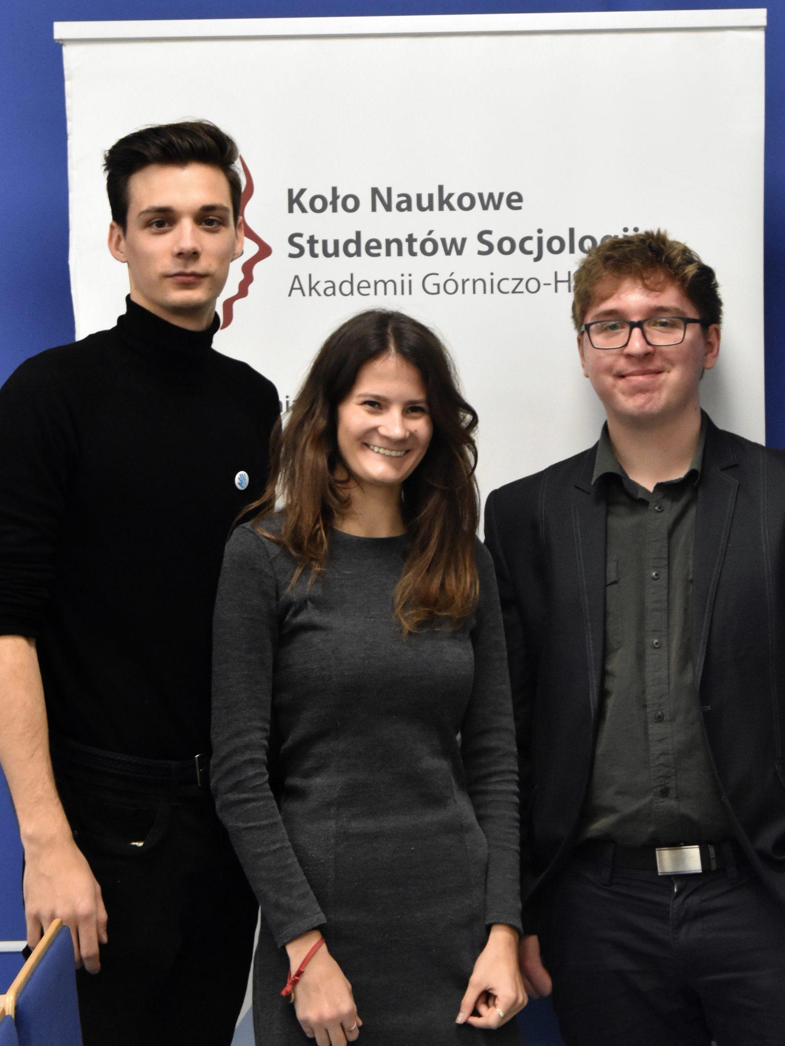 Kamil Motyka, Karolina Pach, Sebastian Medoń – Wydział Humanistyczny AGH